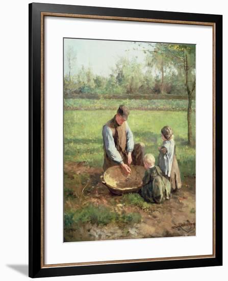Watching Father Work-Albert Jan Neuhuys-Framed Giclee Print