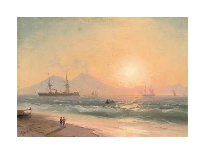 Watching Ships at Sunset-Ivan Konstantinovich Aivazovsky-Giclee Print