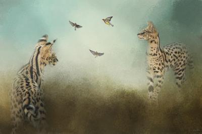 Watching the Waxwings-Jai Johnson-Giclee Print