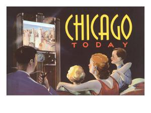 Watching TV in Chicago, Illinois