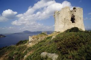 Watchtower in Porto Conte, Sardinia, Italy