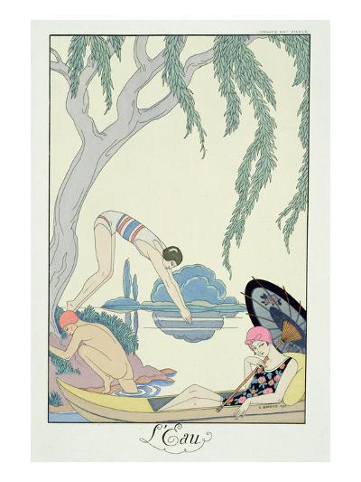Water, 1925 (Pochoir Print)-Georges Barbier-Giclee Print
