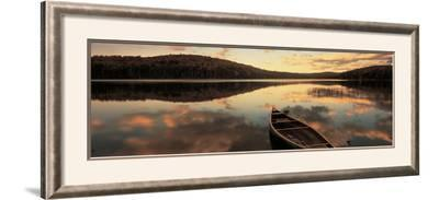Water and Boat, Maine, New Hampshire Border, USA--Framed Photographic Print