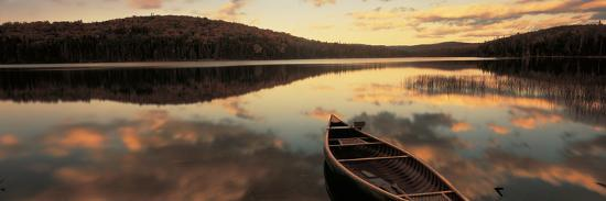 Water and Boat, Maine, New Hampshire Border, USA--Photographic Print