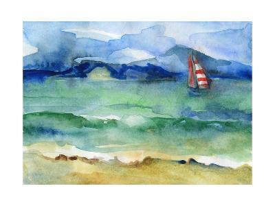 Water and Sail-brightening-Art Print