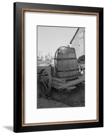 Water Barrel-Dorothea Lange-Framed Art Print