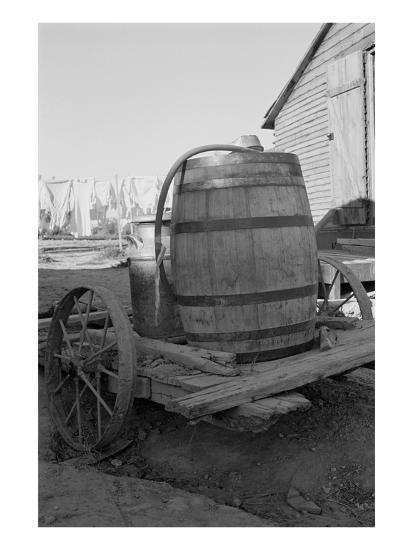 Water Barrel-Dorothea Lange-Art Print