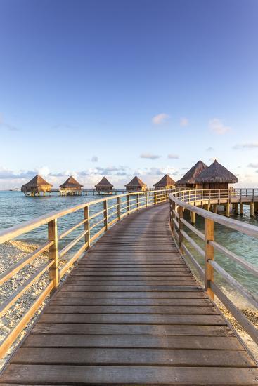 Water Bungalows of Pearl Beach Resort, Rangiroa Atoll, French Polynesia-Matteo Colombo-Photographic Print