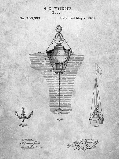 Water Buoy Patent-Cole Borders-Art Print