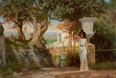 Water Carrier in an Antique Landscape with Olive Trees-Henryk Siemiradzki-Giclee Print