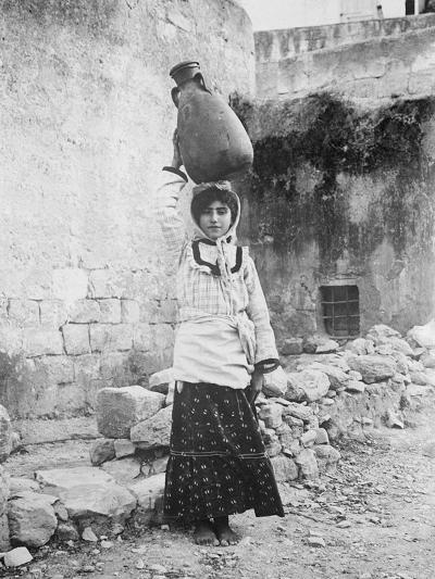 Water Carrier, Palestine--Photographic Print