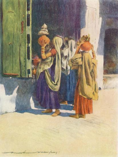 'Water-carriers at Nutha', 1905-Mortimer Luddington Menpes-Giclee Print