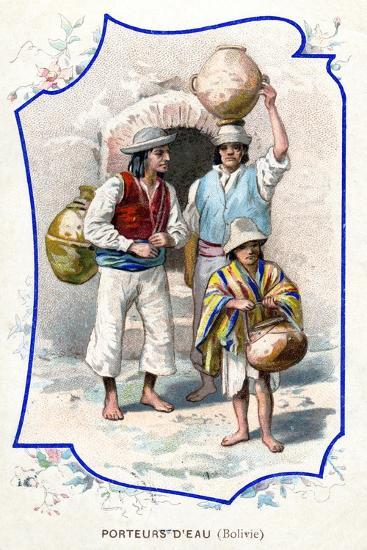 Water Carriers, Bolivia, 1911--Giclee Print