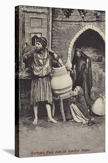 Water Carriers in the Arab Quarter--Stretched Canvas Print