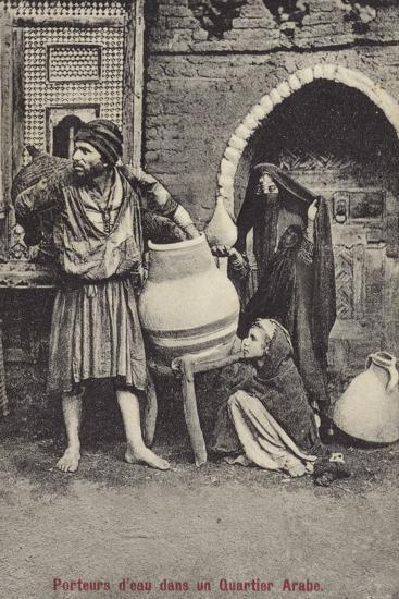 Water Carriers in the Arab Quarter--Photographic Print