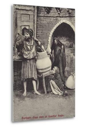 Water Carriers in the Arab Quarter--Metal Print