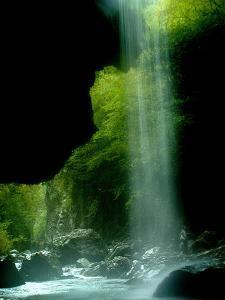Water Cascades into Pantavrechei Canyon on the Trikeliotis River
