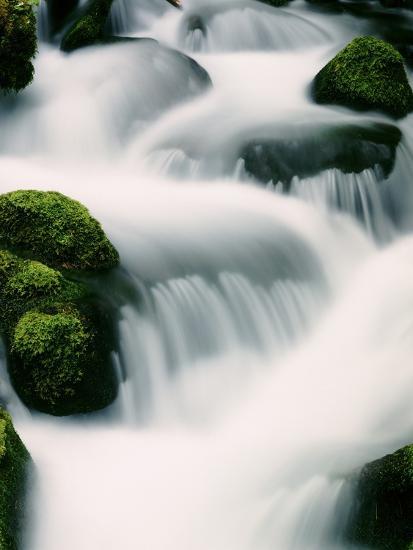 Water cascading - Oregon-Craig Tuttle-Photographic Print