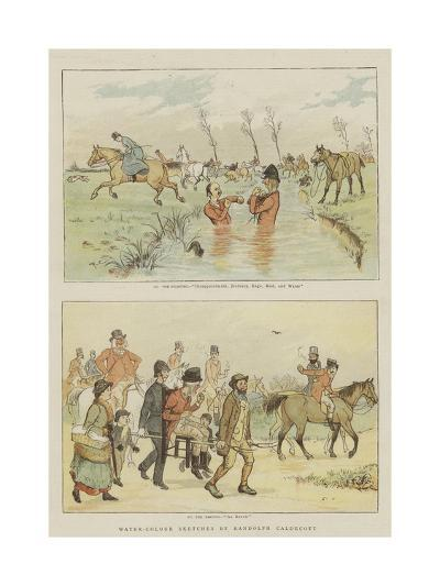 Water-Colour Sketches-Randolph Caldecott-Giclee Print