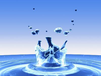 Water Drop Impact-PASIEKA-Photographic Print