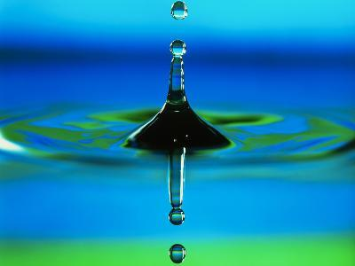 Water Drop-Adam Hart-Davis-Photographic Print