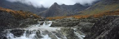 Water Falling from Rocks, Sgurr A' Mhaim, Glen Brittle, Isle of Skye, Scotland--Photographic Print
