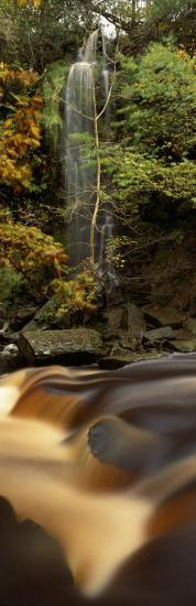 Water Falling on Rocks, Mallyan Spout, West Beck, Goathland, North Yorkshire, England, UK--Photographic Print