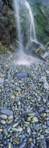 Water Falling on Rocks, Sandymouth Beach, Bude, Cornwall, England