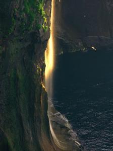 Water Falls at Sunset