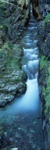 Water Flowing Through Rocks, Sunrift Gorge, Us Glacier National Park, Montana, USA