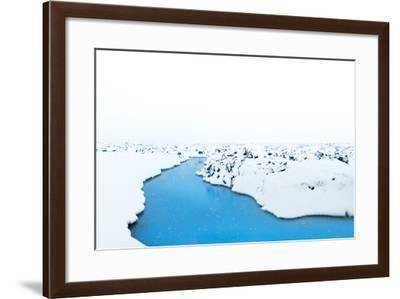 Water Flows Through Lava Rock at the Blue Lagoon Near Keflavik, Iceland-Chad Copeland-Framed Photographic Print