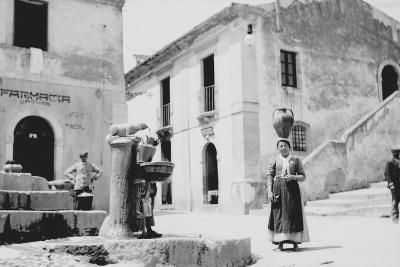 Water Fountain in Sicily--Photographic Print