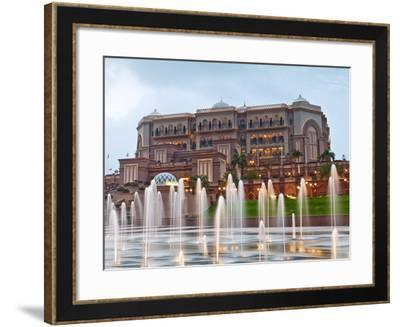Water Fountains in Front of the Emirates Palace Hotel, Abu Dhabi, United Arab Emirates, Middle East-Gavin Hellier-Framed Photographic Print