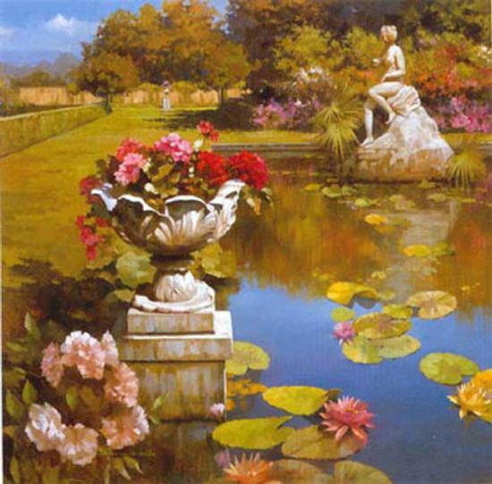 Water Garden II-Spartaco Lombardo-Art Print