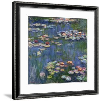 Water Lilies, 1916-Claude Monet-Framed Premium Giclee Print