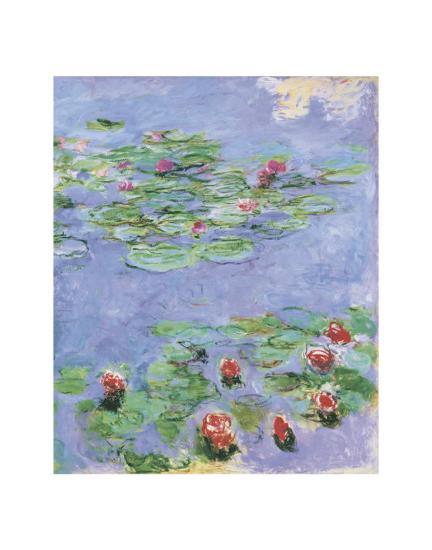 Water Lilies, c. 1914-1917-Claude Monet-Art Print