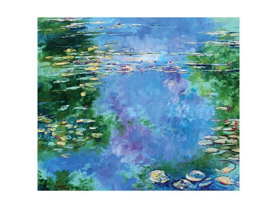 Water Lilies III-Stuart Roy-Art Print