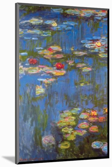 Water Lilies No. 3-Claude Monet-Mounted Premium Giclee Print