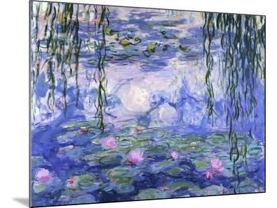 Water Lilies (Nymph?as), c.1916-Claude Monet-Mounted Print