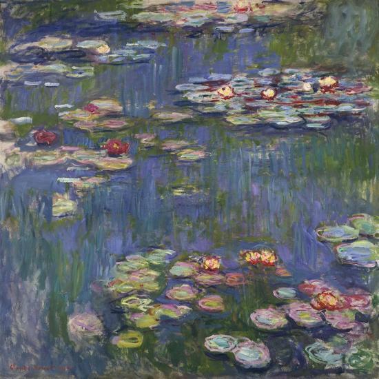 Water Lilies (Nymphéas), c.1916-Claude Monet-Art Print