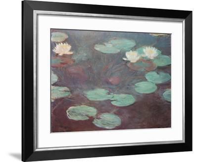 Water lilies (or Nympheas)-Claude Monet-Framed Art Print