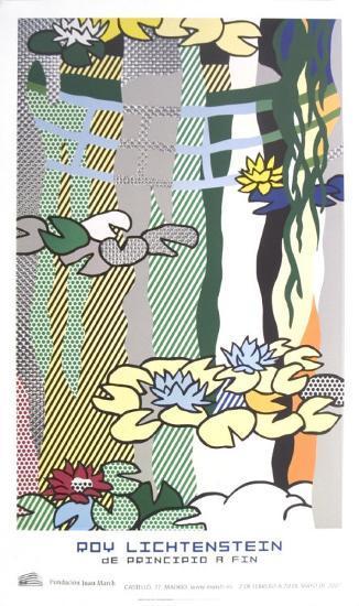 Water Lilies with Japanese Bridge-Roy Lichtenstein-Art Print