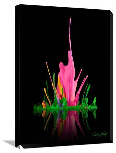 Water Lilly Pink-Don Farrall-Stretched Canvas Print