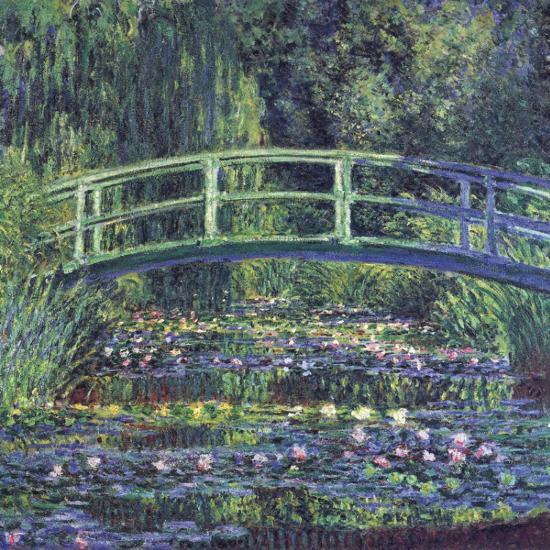 Water Lily Pond, c.1899 (blue)-Claude Monet-Art Print