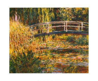 Water Lily Pond-Pink Harmony-Claude Monet-Art Print