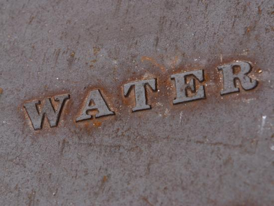 Water Manhole Cover--Photographic Print