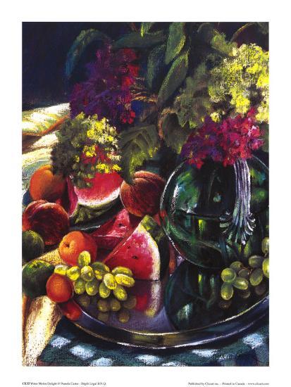 Water Melon Delight-Pamela Carter-Art Print