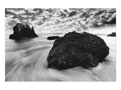 Water Movements, Malibu, California--Art Print
