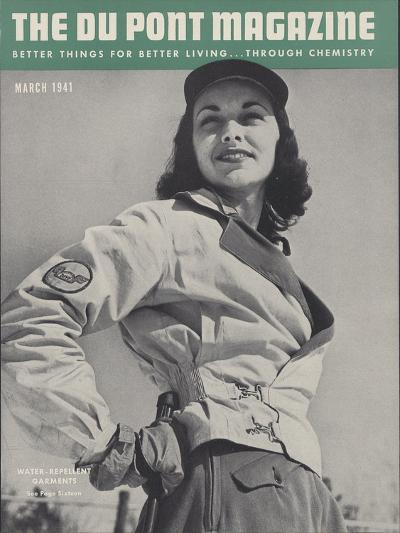 Water-Repellent Garments, Front Cover of 'The Du Pont Magazine', March 1941--Giclee Print