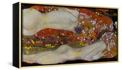 Water Serpents II, c.1907-Gustav Klimt-Framed Canvas Print